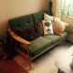 Scandinavian style design, vintage looking Cosy sofa