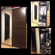 Wardrobe Cabinet Closet 2 sliding door with full body glass *slightly used
