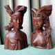 Wood Carved Balinese Couple