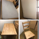 Sell double bed + mattress, dining table set