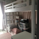 Solid Pine Wood Loft Bed (Single) with Mattress