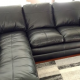 FOR SALE - Genuine Leather - Black Sectional Sofa - Must move by April 14th!!!