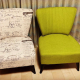 Retro chic living room chairs