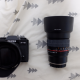 Fujifilm XT10 with XF 18-55 2.8-4 zoom lens and Rokinon 85 1.4 Prime