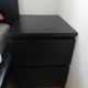 Bedside table with drawers Ikea MALM (black)